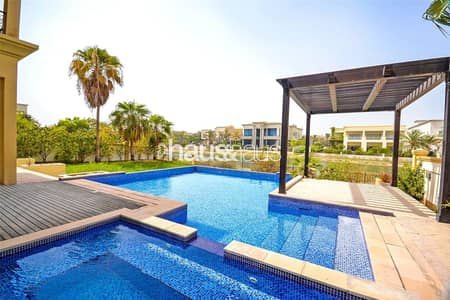 5 Bedroom Villa for Rent in Emirates Hills, Dubai - Spacious 5BR villa w/ Lake View and Pool