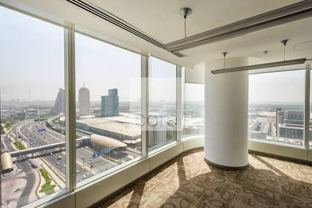 Floor for Rent in Sheikh Zayed Road, Dubai - Combined fitted full floors in Nassima