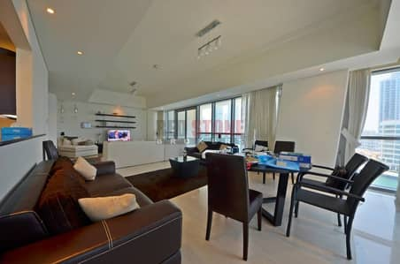 Fully Furnished 2 Bed + Maid's with Full Marina and Dubai Eye Viiew