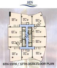 Floors (6-15,17-35)