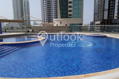 FULL SEA VIEW of 3BHK+4BATHS+FACILITIES+PARKING in Shams!