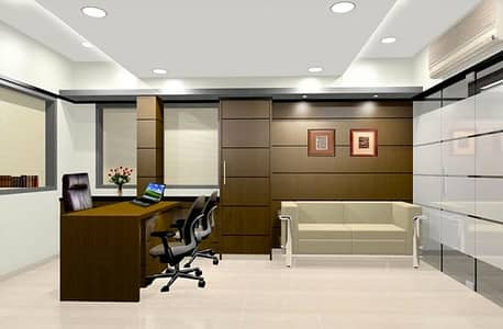 Office for Rent in Al Nahda, Dubai - FURNISHED OFFICE WITH SEPARATE EJARY  AND ALL THE UTILITY INCLUDED 4 PAYMENTS