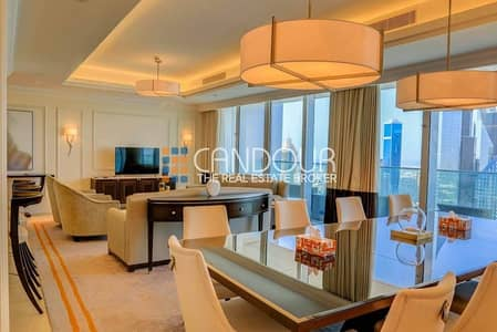 4 Bedroom Hotel Apartment for Sale in Downtown Dubai, Dubai - Large Balcony|Fully Furnished |Road View