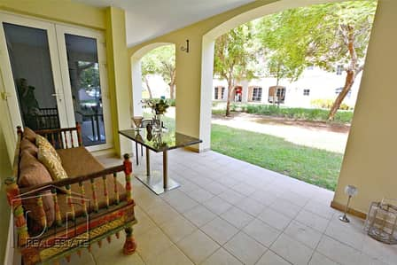 3 Bedroom Apartment for Sale in Green Community, Dubai - Ground floor | Opening to pool and park