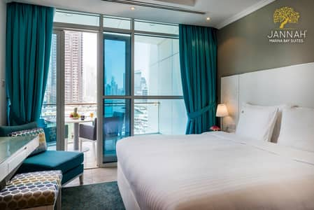 Hotel Apartment for Rent in Dubai Marina, Dubai - Studio - One Year-Jannah Place Dubai Marina