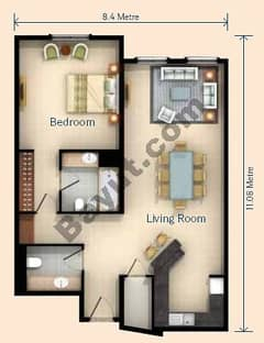 1 Bedroom Apt U Type Building