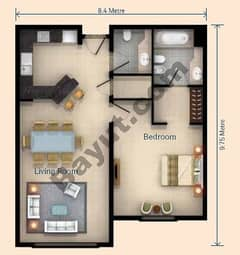 1 Bedroom Apt V Type Building