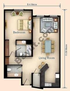 1 Bedroom Apt U Type Building