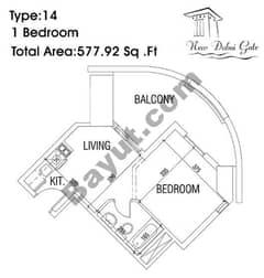 Type 14 1 Bedroom