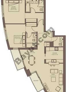 Typical Floors (2-30) Suite 1 2 Bedroom