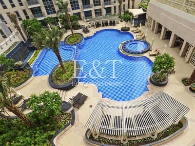 1 Bedroom Flat for Rent in Downtown Dubai, Dubai - 1 Bed | Pool  view |High floor | 05 layout