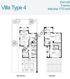 2 Bed Villa Type 4 Floors (1st,Ground)