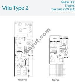 3 Bed Villa Type 2 Floors (1st,Ground)