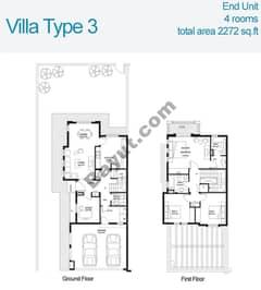 3 Bed Villa Type 3 Floors (1st,Ground)