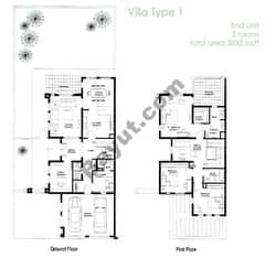 3 Bedroom+Study-End Unit(1E)