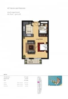 Studio-Apartment-Plot-607-Type-1A