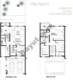 3 Bedroom - Middle Unit (3M)