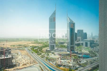 Fitted|High Floor with SZR view |Latifa Tower opp. Emirates Towers
