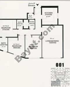Flat 001 Floorplan