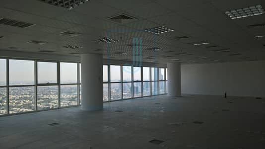 Floor for Rent in Jumeirah Lake Towers (JLT), Dubai - Great open floor semifitted at Swiss Tower