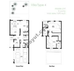 2 Bed-Villa-Middle-unit-4m-right-(1st,Ground)