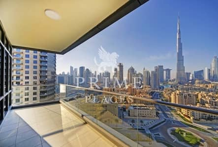 2 Bedroom Apartment for Sale in Downtown Dubai, Dubai - High floor|Avl April 2019|Full Burj View