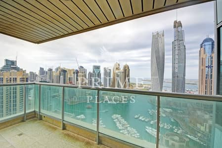 3 Bedroom Flat for Rent in Dubai Marina, Dubai - Panoramic Marina view | Genuine pictures