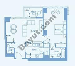 Suite 5 Level (3-36) 1 Bedroom