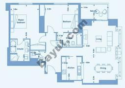 Suite 1 Level (3-36) 2 Bedroom