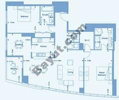 Suite 3 Level (3-36) 2 Bedroom