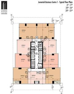Typical Floors (6-17,20-26,28-32)