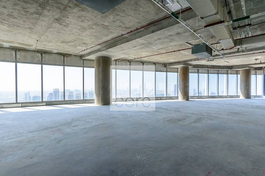 Half floor shell and core office