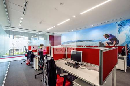 Office for Rent in Dubai Marina, Dubai - Fully fitted partitioned office for rent