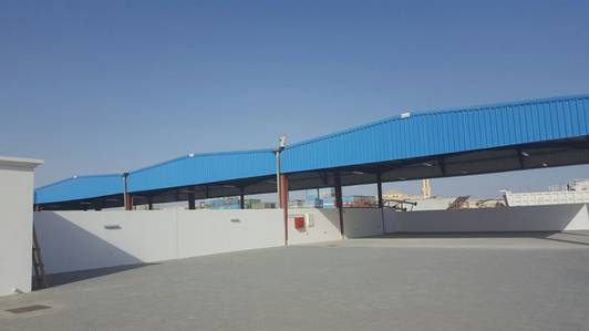 Plot for Rent in Emirates Industrial City, Sharjah - Fully inter log yard with ready offices and shed in Emirates Industrial City {Sajja}  Sharjah U. A. E.