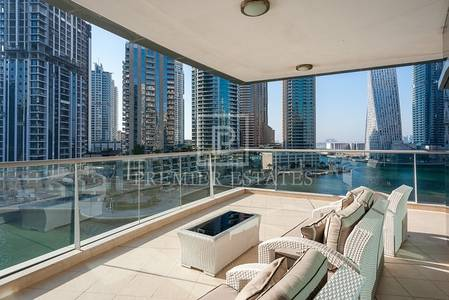 3 Bedroom Flat for Sale in Dubai Marina, Dubai - Unobstructed Marina View 3BR with Storage room