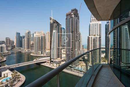 2 Bedroom Flat for Sale in Dubai Marina, Dubai - Marina View  Vacant 2BR + Maids 2 Parking Spaces