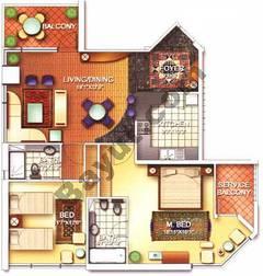 2 Bedroom Nice 2C Floors (3-25)