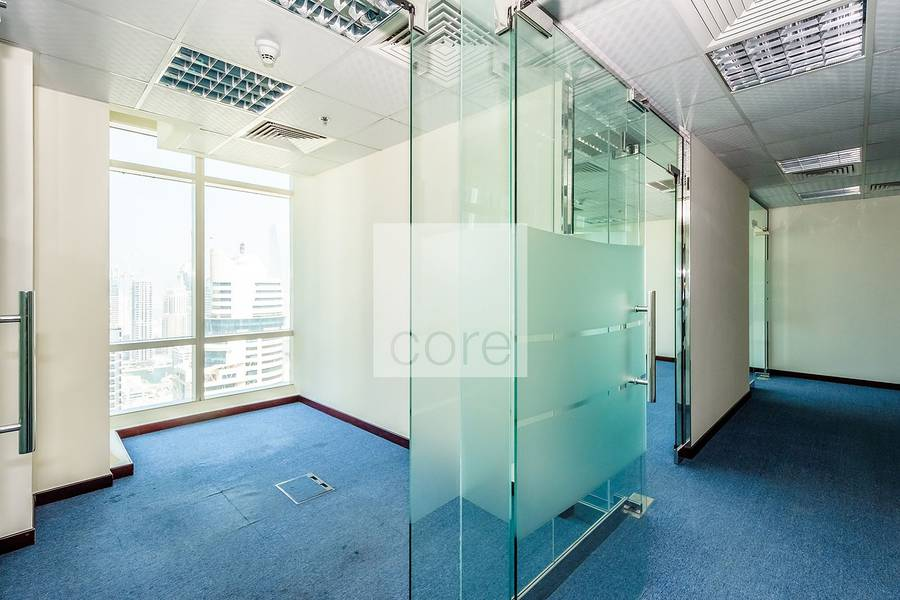 Spacious fitted office for rent in Liwa