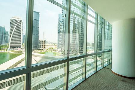 Office for Rent in Jumeirah Lake Towers (JLT), Dubai - Fitted with partition office for rentAlmas