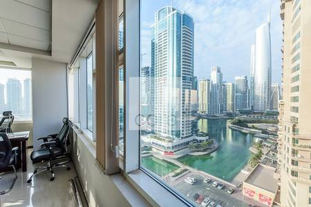 Office for Rent in Jumeirah Lake Towers (JLT), Dubai - Fitted office in HDS Business Centre JLT
