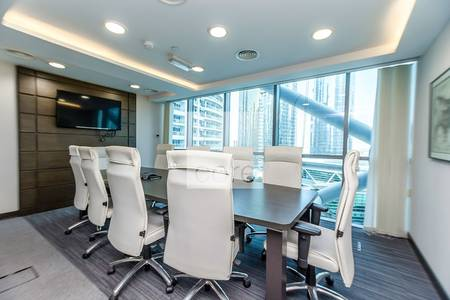Office for Sale in Jumeirah Lake Towers (JLT), Dubai - Fitted office on low floor  Indigo Tower