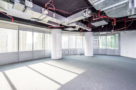 Office for Rent in Jumeirah Lake Towers (JLT), Dubai - Shell and core office for rent in Almas