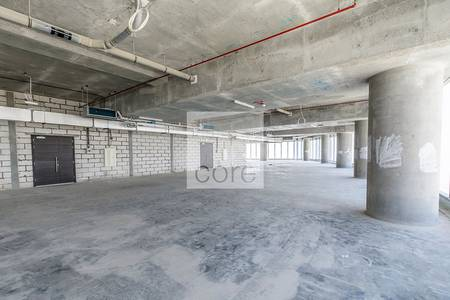 Shell and core office in high-rise bldg.