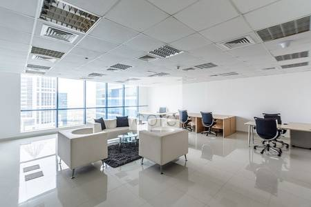Office for Rent in Jumeirah Lake Towers (JLT), Dubai - Quality Fitted Office I High Floor I DMCC