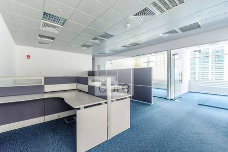 Office for Rent in Tourist Club Area (TCA), Abu Dhabi - Fully fitted office unit with partitions