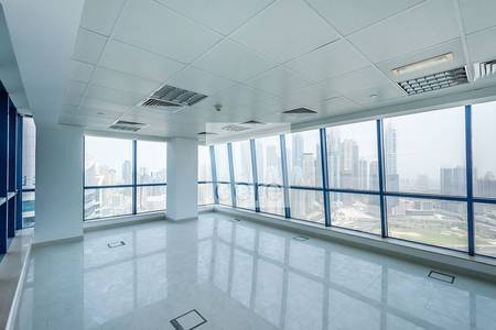 Office for Rent in Jumeirah Lake Towers (JLT), Dubai - High level fitted office with partitions