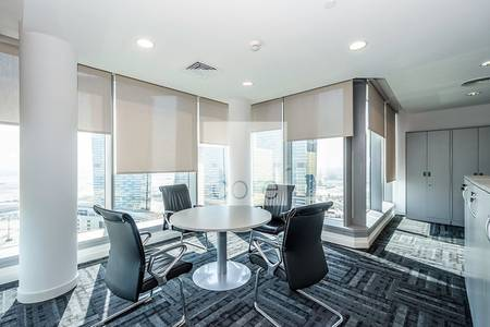 Office for Rent in Al Reem Island, Abu Dhabi - Sea view fully fitted office | Sky Tower