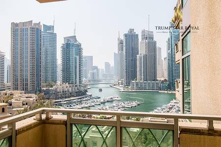3 Bedroom Flat for Sale in Dubai Marina, Dubai - Marina and Golf View 3Br+M Ready to Move