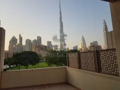 3 Bedroom Villa for Rent in Downtown Dubai, Dubai - Full Burj Khalifa View|3 BR+MR+Garage| Podium Villa