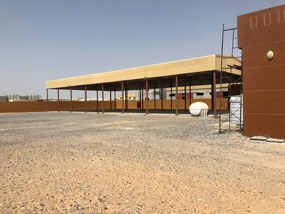 Mixed Use Land for Rent in Emirates Modern Industrial Area, Umm Al Quwain - UMM Al QUWAIN - New Industrial Area -Open Yard 59000 Sq. Ft With 8000 Sq. Ft Open Ware 126KW Elect